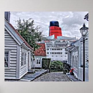 Pôster QE2 em Stavanger
