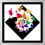 Poster quadrado dos coelhos do Fractal