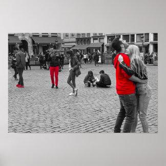 Pôster Quadrado vermelho