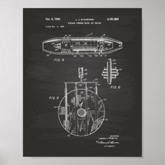 Poster Quadro 1959 nuclear da arte do motor de jato da