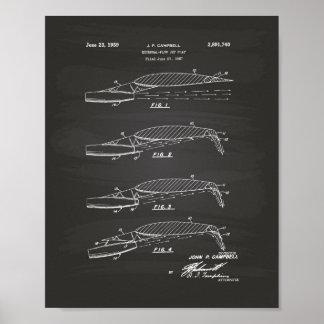 Pôster Quadro da arte da patente da aleta de jato 1957 do