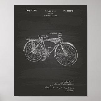 Pôster Quadro da arte da patente da bicicleta 1939