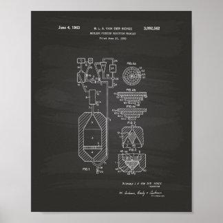Pôster Quadro da arte da patente da fissão nuclear 1956