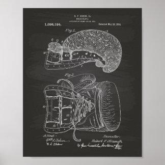 Poster Quadro da arte da patente da luva de
