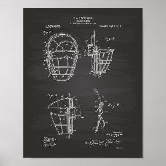 Poster Quadro da arte da patente da máscara 1913 do