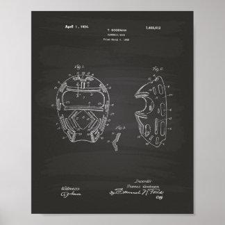 Poster Quadro da arte da patente da máscara 1924 do
