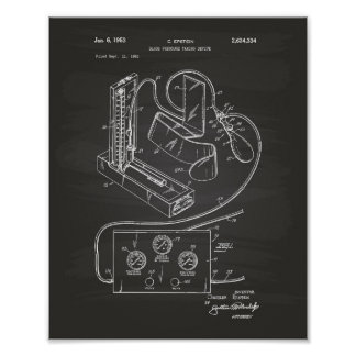 Poster Quadro da arte da patente da pressão sanguínea