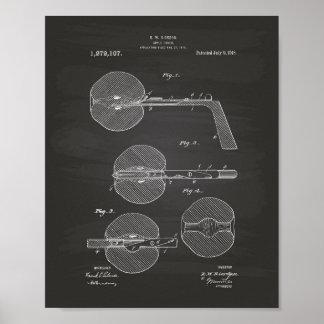 Pôster Quadro da arte da patente de Apple Corer 1918