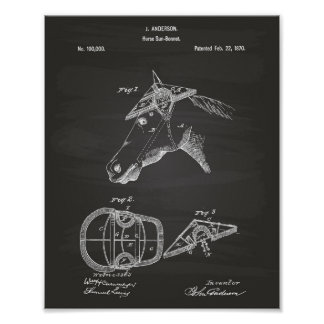 Pôster Quadro da arte da patente de Sunbonnet 1870 do