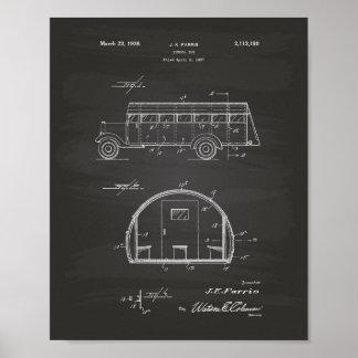 Poster Quadro da arte da patente do auto escolar 1937