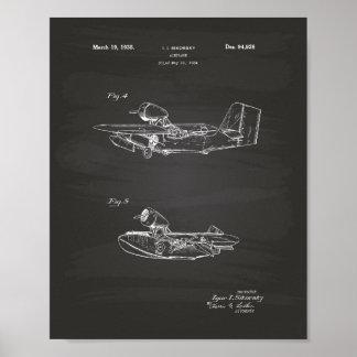 Poster Quadro da arte da patente do avião 1926