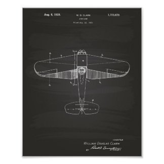 Poster Quadro da arte da patente do avião 1929