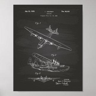 Pôster Quadro da arte da patente do avião 1935