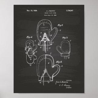 Pôster Quadro da arte da patente do cobrir 1929 da luva