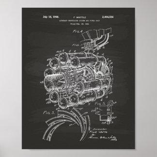 Poster Quadro da arte da patente do motopropulsor 1944