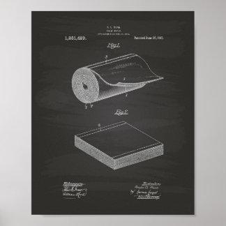 Poster Quadro da arte da patente do papel higiénico 1917