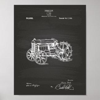 Pôster Quadro da arte da patente do trator 1919