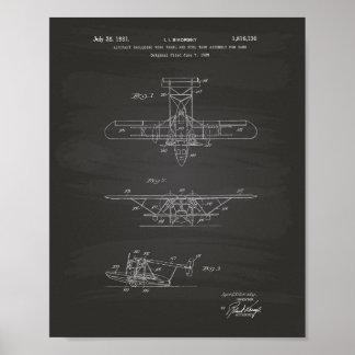 Poster Quadro da arte da patente dos aviões 1931