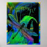 Poster quadro libélula