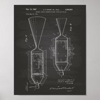 Pôster Quadro nuclear da arte da patente do motor 1963 do