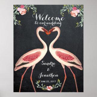 Pôster quadro subtil do sinal do casamento da boa vinda