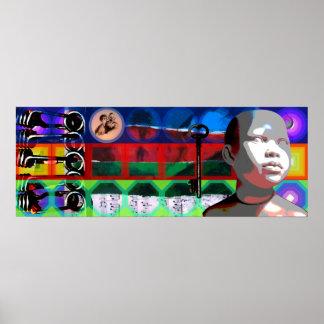 Poster Quadros psicadélicos P de Beethoven do projeto do