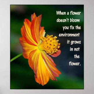 Pôster Quando a flor não florescer…