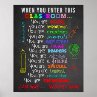 Poster Quando você incorporar regras desta sala de aula