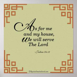 Poster Quanto para a mim e a minha oração das citações da