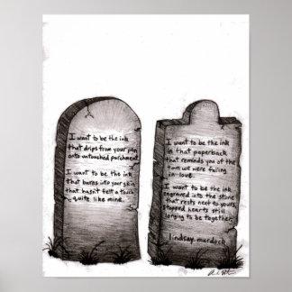 Poster que da arte da parede eu quero ser a tinta