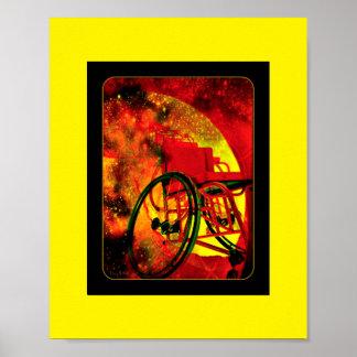 """Pôster """"Que se o deus jogado era uma cadeira de rodas """""""