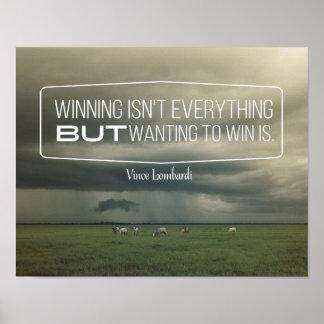 Pôster Querer ganhar