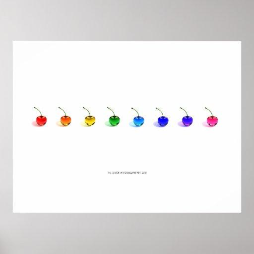 Pôster Rainbow Cherries