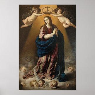 Pôster Rainha da Virgem Maria da concepção imaculada do