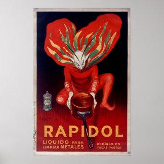Pôster Rapidol, propaganda espanhola polonesa do metal