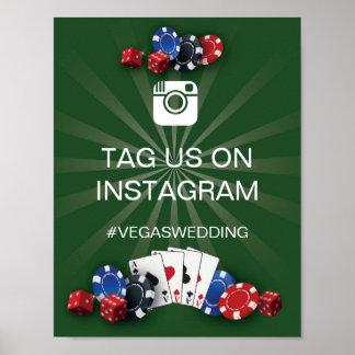 Pôster Recepção de casamento de Vegas do sinal de