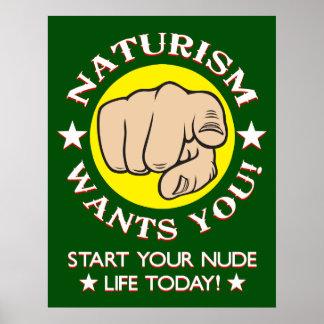 Pôster Recrutamento do Naturism