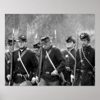 Poster Reenactment da guerra civil - soldados da união