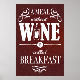 Poster Refeição sem vinho