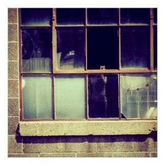 Poster reflexivo da janela pôster