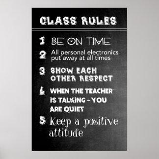 Poster Regras de classe