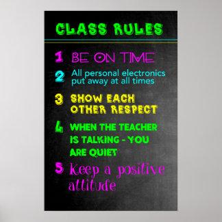 Pôster Regras de classe