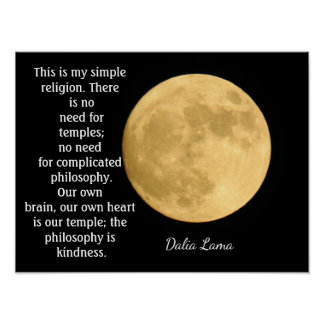 Poster Religião simples - citações de Dalai Lama -