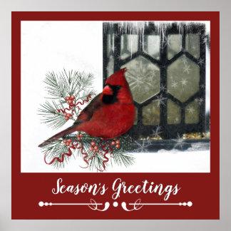 Poster Rena rústica adorável no inverno