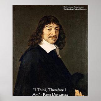 """Poster Rene Descartes """"que eu penso conseqüentemente."""""""