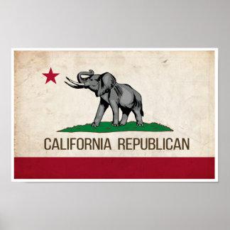 Poster republicano do GOP de Califórnia