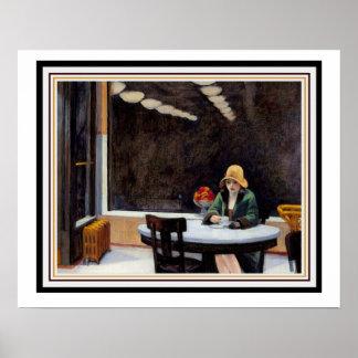 Pôster Restaurante automático por Edward Hopper 16 x 20