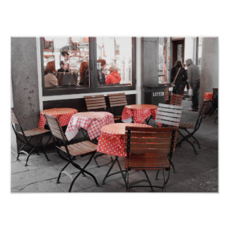 Pôster Restaurantes vermelhos