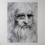 Poster - retrato de auto de Leonardo da Vinci