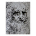 Poster - retrato de auto de Leonardo da Vinci Pôster